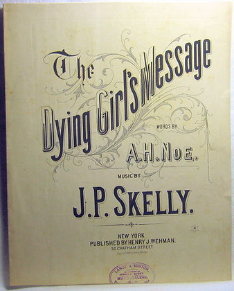 The Dying Girl's Message 1885