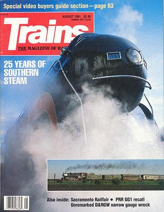 TRAINS, August 1991