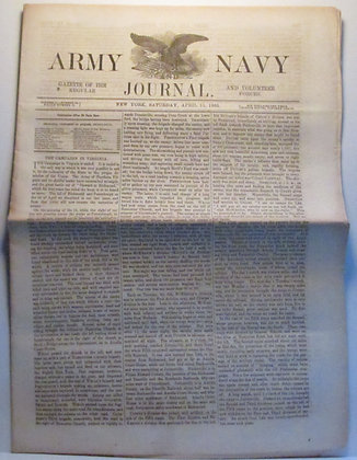 ARMY & NAVY JOURNAL (Saturday, April 15, 1865) Civil War Newspaper