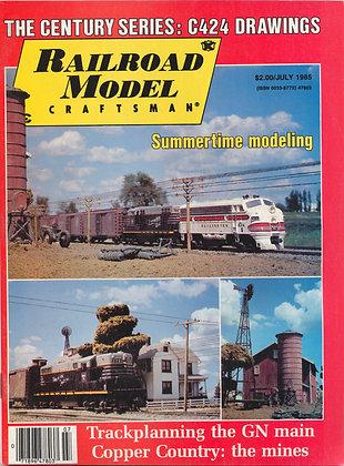 Railroad Model Craftsman, July 1985