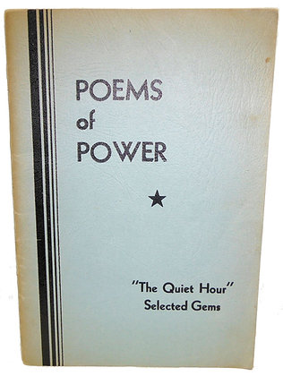 """Poems of Power """"The Quite Hour"""""""
