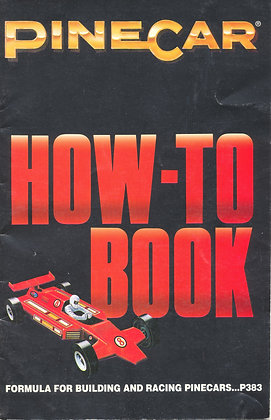 Pinecar How-To Book Formula Cars 1998