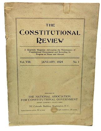Constitutional Review Quarterly Mag. 1924