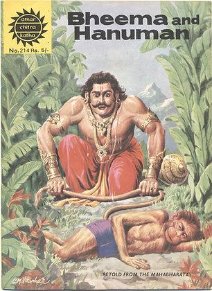 BHEEMA and HANUMAN No. 214 (AMAR/CHITRA/KATHA) Indian Comic