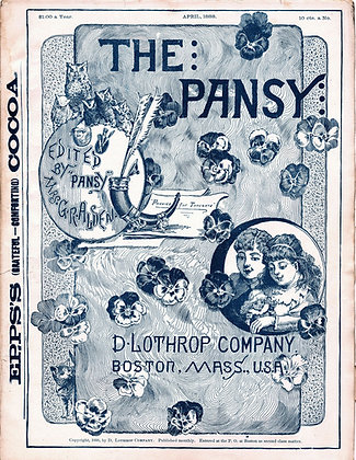 The Pansy Magazine April 1888