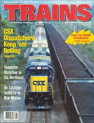 TRAINS, November 1993