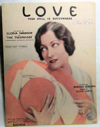 Love Your Spell is Everywhere Gloria Swanson 1929