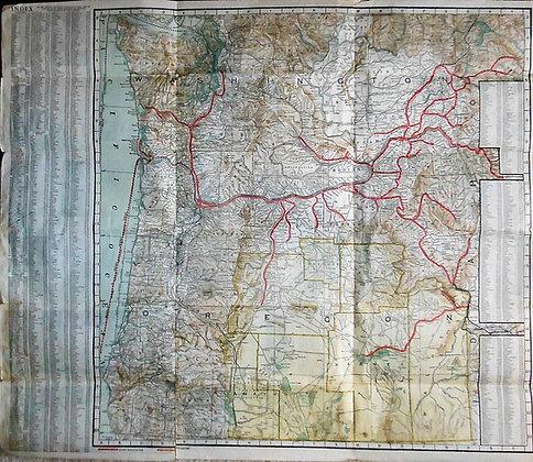 Central Oregon Railroad Map ca. 1920