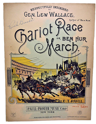 CHARIOT RACE OR BEN HUR MARCH by E. T. Paull 1932