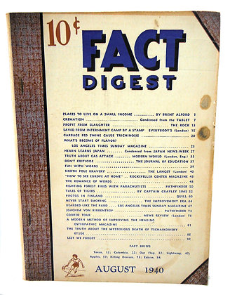 Rodale Fact Digest August 1940