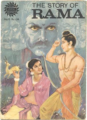 THE STORY OF RAMA No. 15 (AMAR/CHITRA/KATHA) ca. 1970s Indian Comic