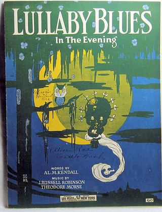 LULLABY BLUES In The Evening 1919