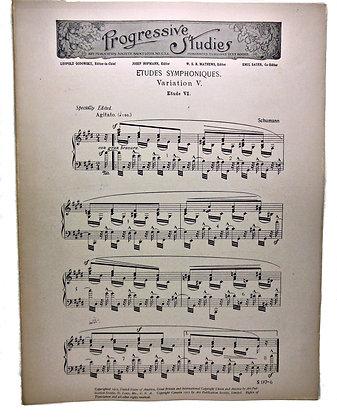 """Progressive Studies """"ÉTUDES SYMPHONIQUES"""" by Schumann 1913"""