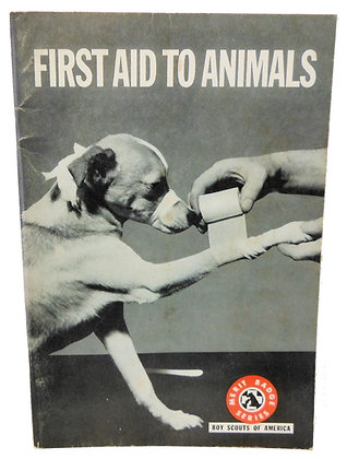 First Aid to Animals Boy Scouts 1970