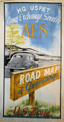 A. E. S. Road Map U. S. Zone Germany 1947