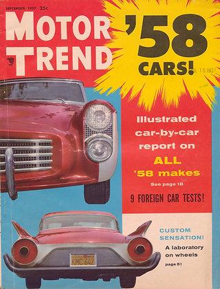 MOTOR TREND September 1957