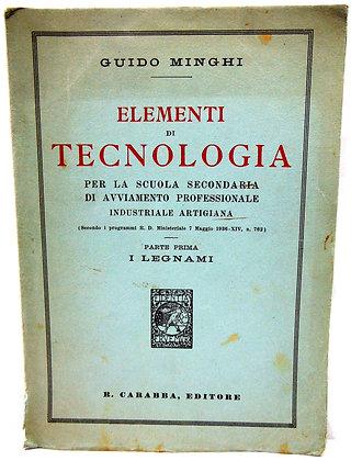 Elementi Tecnologia Guido Minghi 1937 (Italian)