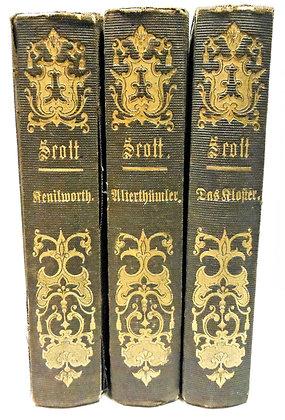 Sir Walter Scott (3 Vol. set) German 1844-1846