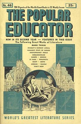 POPULAR EDUCATOR (#46, Second Year, 1940) MARK TWAIN