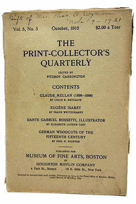 Print Collector's Quarterly Oct. 1915