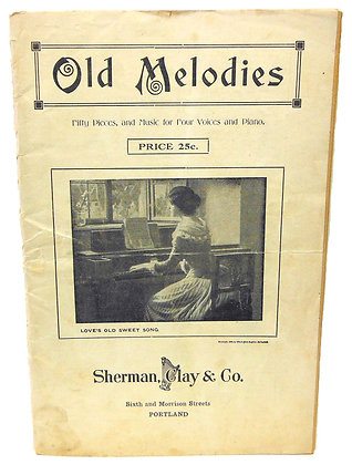 Old Melodies (50 Pieces) by Clay 1906 (4 Voices & Piano)