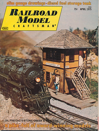 Railroad Model Craftsman, April 1975
