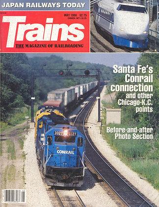 TRAINS, May 1990