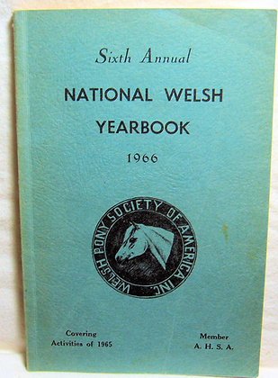 Sixth Annual National Welsh Yearbook 1966