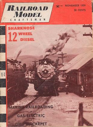 Railroad Model Craftsman, November 1959