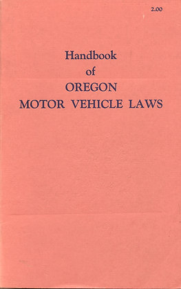 Oregon Motor Vehicle Laws 1962