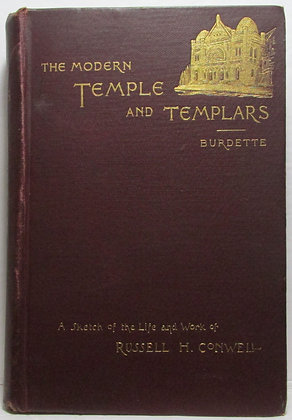 THE MODERN TEMPLE and TEMPLARS by Robert J. Burdette 1894