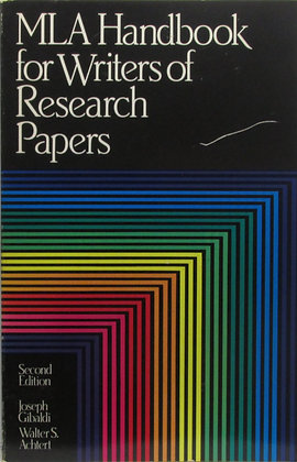MLA Handbook for Writers of Research Papers 1984