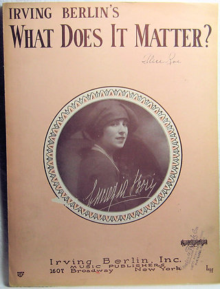 IRVING BERLIN'S What Does it Matter? 1927