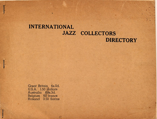 Intl. JAZZ Collectors DIRECTORY 1948