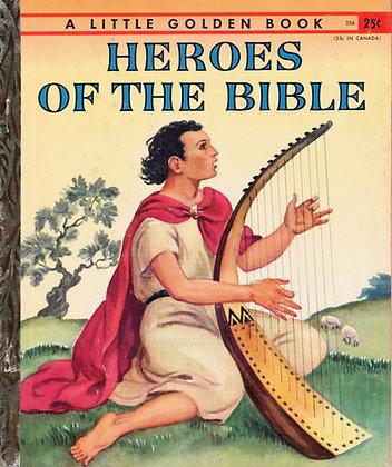 Heroe's of the Bible (A Little Golden Book #236) 1955