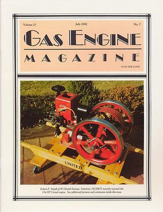 Gas Engine Mag.  July 1992