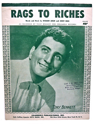 RAGS TO RICHES Tony Bennett 1953