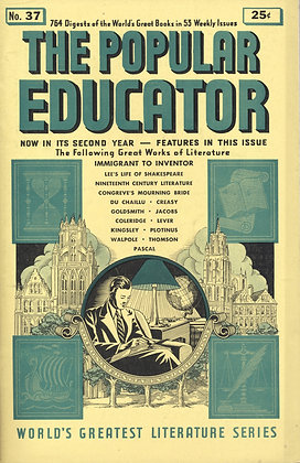 POPULAR EDUCATOR (#37, Second Year, 1940) IMMIGRANT TO INVENTOR