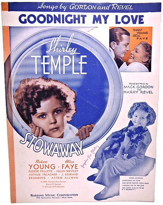 GOODNIGHT MY LOVE Shirley Temple 1936