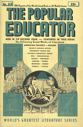 POPULAR EDUCATOR (#33, Second Year, 1940) AMERICAN TRAGEDY - DREISER