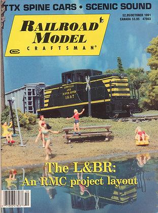 Railroad Model Craftsman, October 1991