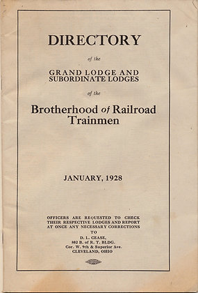 DIRECTORY of the Brotherhood of Railroad Trainmen 1928