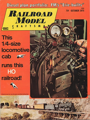 Railroad Model Craftsman, October 1975