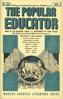 POPULAR EDUCATOR (#31, Second Year, 1940) NAPOLEON - EMIL LUDWIG