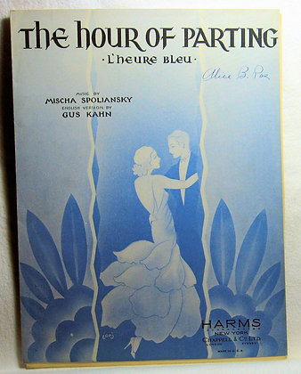 THE HOUR OF PARTING by L'heure Bleu 1928