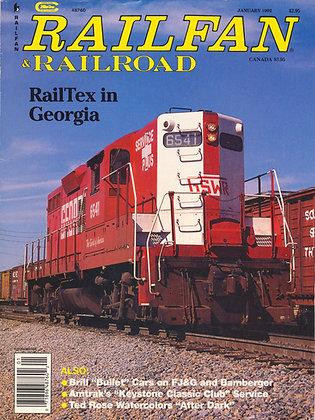 RAILFAN & RAILROAD JANUARY 1992