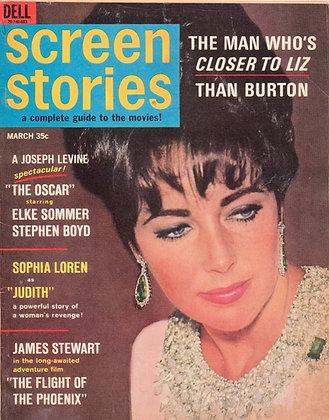Screen Stories, LIZ TAYLOR, March 1966