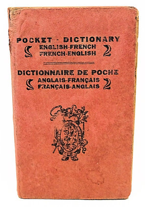 Pocket Dictionnaire (English-French) ca. 1900