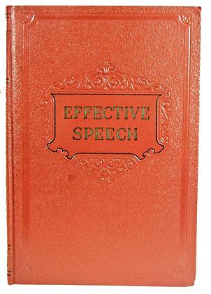 EFFECTIVE SPEECH (Manual #9) 1932