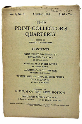 Print Collector's Quarterly Oct. 1914